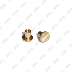 63162/F SCREW SINGLE CUT 6X5,3 STICK 3X4,3 MM 2,6 BRASS