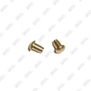 63268 BORCHIA BOMBATA 4X5,3 MM OTTONE