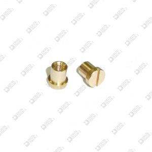 63418 FEMALE SCREW WITHOUT CHAMFER D. 5X5,5 MM 2,6 MOLDED 4 BRASS