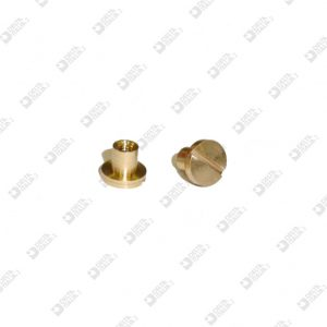 63481/4 FEMALE SCREW WITHOUT CHAMFER D. 7X5,5 MM 2,6 MOLDER 4 BRASS