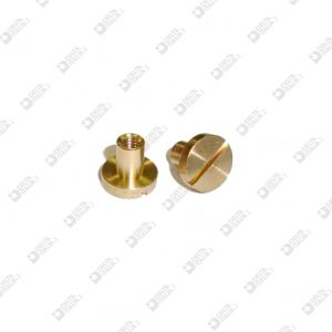 63507/F FEMALE SCREW SINGLE CUT HEAD 8X7 STICK 4X5 MM 3 BRASS
