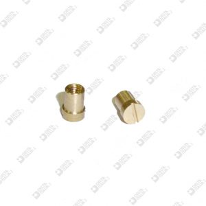 63537 FEMALE SCREW D. 4X5,5 M2,6 MOLDED 4 BRASS
