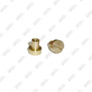 63571/F FEMALE SCREW 6X6,3 STICK 3,5X4 M 2,6 BRASS