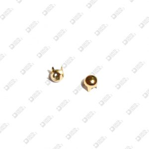 11183 ORNAMENT 4 TIPS D. 3,5 MM ROUNDED BRASS