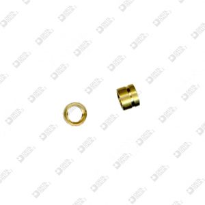 60992 COMPASS 4X3 MM 3 WITH STRIPE BRASS