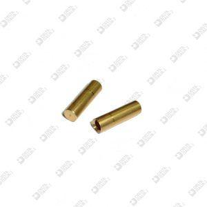63620/F FEMALE PIN 3X10,5 WITH HOLE D. 2 MM BRASS
