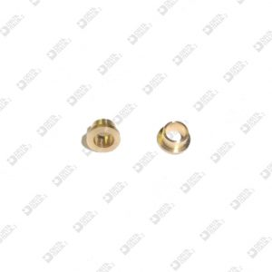64119 BUSSOLA 5X2,6 FORO 3,1 MM CON BATTUTA 3,9X2 MM OTTONE