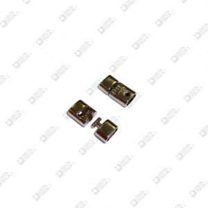 11217 CLOSURE 2 PIECES FOR BRACELET WITH HEADLESS SCREW 10X18 INT. 7,8X3,8 ZAMAK