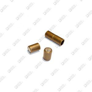 11209 CLOSURE 2 PIECES WITH MAGNET FOR BRACELET 8X22 HOLES D. 6 MM ZAMAK