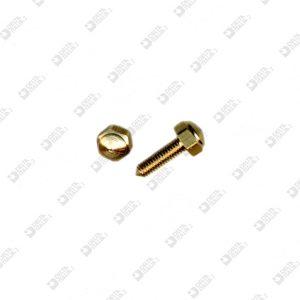 63810/8,5 HEXAGONAL SCREW 5X12 MM 2,6X8,5 BRASS