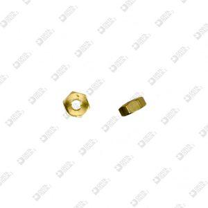 10269 HEXAGONAL NUT 6X2,5 MM 2,6 BRASS