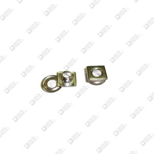 11593 COMPLETE SQUARE EYELET 11X11 FORO 5 BRASS