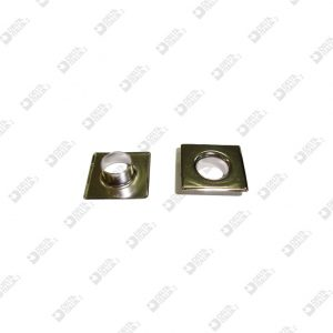 11594 COMPLETE SQUARE EYELET 20X20 BRASS