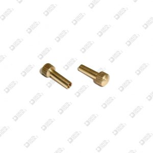 61600 PIN KNURLED SPHERE 6X17 HOLE 2,7 STICK 3,5 MM BRASS