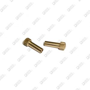 62934 PIN KNURLED SPHERE 6X17 HOLE 3,1 BRASS