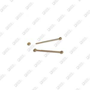 64996/24 PERNO CON SFERA D. 3 M 1,4X6 OTTONE