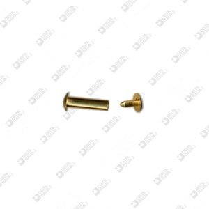 63528/9,5 FEMALE RIVET 4×9,5 WITH MALE 4×4,5 BRASS
