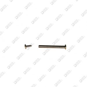 63528/20 FEMALE RIVET 4×20 WITH MALE 4×4,5 BRASS