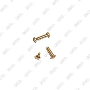64069 ROUNDED HEAD ORNAMENT 4X9,5 STICK 2,2X8,2 M 1,6 BRASS