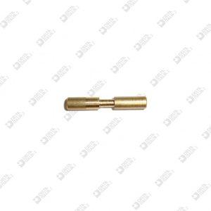 62351/25 PIN 4X25 WITH THROAT 2,5X4,5 BRASS