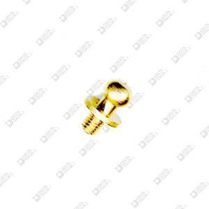 2061/C POMOLO 7X10 MM 3 SFERA 5 OTTONE