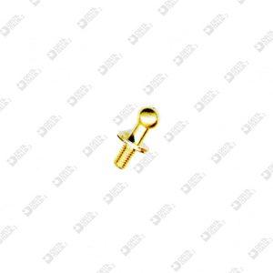 2061/L POMOLO 7X14 MM 3 SFERA 5 OTTONE