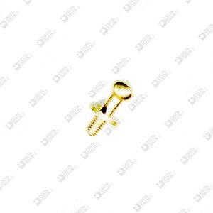 2061/M POMOLO 7X13 MM 3X4,6 SFERA 5 OTTONE