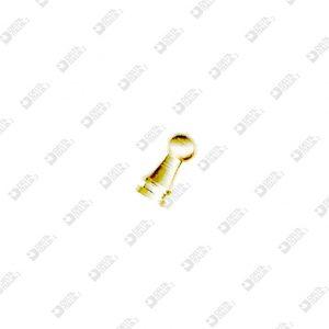 61312 POMOLO PER FIBBIA 5X10,3 CON CANALINO OTTONE