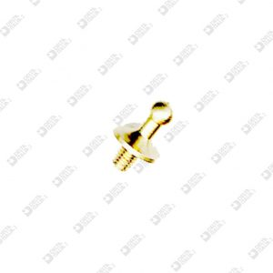 62318 POMOLO D. 8X12 SFERA 4 MM 3X4 OTTONE