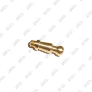 63854 STUD FOR BUCKLE 4X13,5 SPHERE 4 MM 3X2,5 BRASS