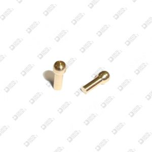 64012 STUD FOR BUCKLE 3X7,3 STICK MM 1,9X4,6 BRASS