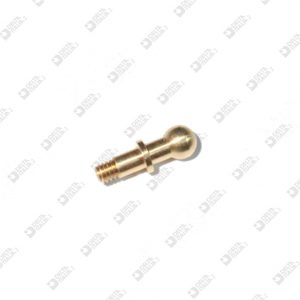 64038/F STUD FOR BUCKLE 4X12 DOUBLE SLOT M 2,5X2 BRASS