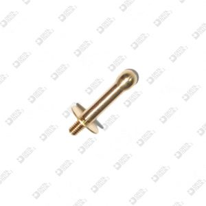 64121 STUD 8X18,5 MM 2,6X4 SPHERE 4 BRASS