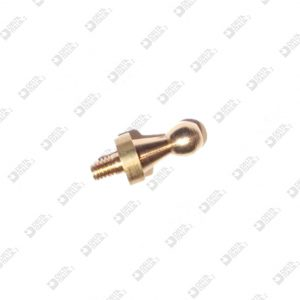 64198 STUD 6X13,6 MM 2,6X3,6 SPHERE 4 BRASS