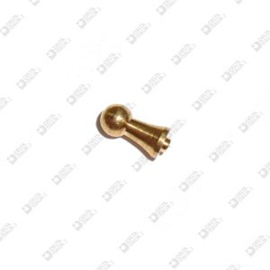 64446 STUD FOR BUCKLE 4X9 CON TAIL MM 1,9X0,7 ECOBRASS