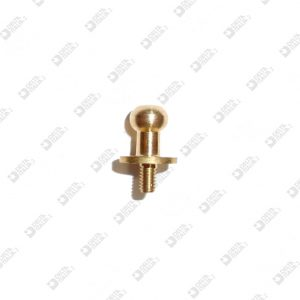 64541/4,5 STUD 9X13,8 MM 3X4,5 SPHERE 6 BRASS