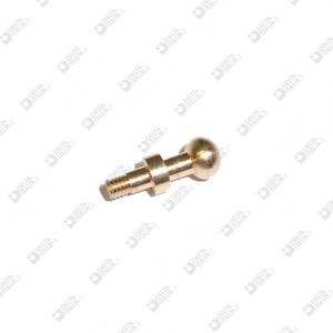 64544/2,5 STUD FOR BUCKLE 5X13,3 SPHERE 5 DOUBLE SLOT MM 2,6X2,5 BRASS