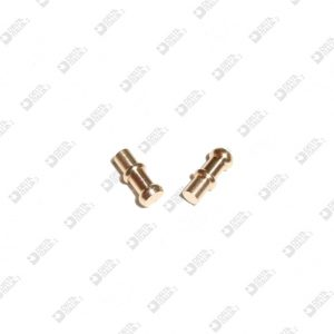 64807 STUD FOR BUCKLE 4X9,5 DOUBLE SLOT BRASS