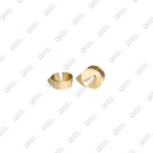 64577 STRASS HOLDER 8X3,5 WITH SEAT BRASS