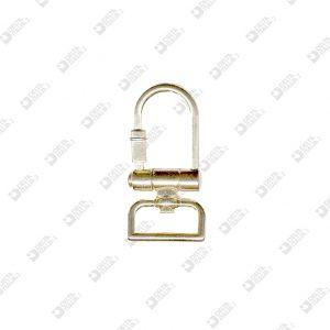 4248/20 HOOK KEY HOLDERS WITH REVOLVIG RING MM 20 ZAMAK
