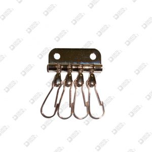 5640/4 KEY HOLDERS 4 HOOKS IN ZAMAK IRON