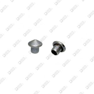 10718/T CONICAL HEAD RIVET 032 D. 6,5 BRASS/IRON