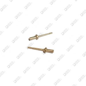 2510 PIN FOR EARRING SMOOTH SEAT 3X14 MM BRASS