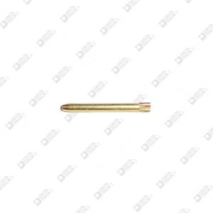 62719 KNURLED PIN. 1,65X17 WITH LONG ENTRANCE BRASS / ECOBRASS