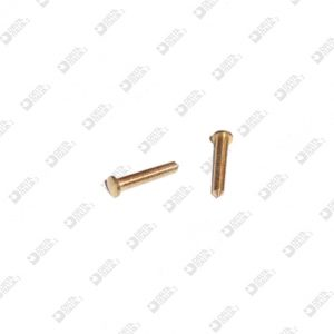 63058 PIN WITH TIP 2,5X8,6 BRASS
