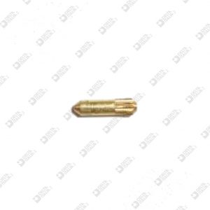 63863/6 PIN 1,65X 6 WITH LONG ENTRANCE AND CHAMFER ON KNURL BRASS / ECOBRASS