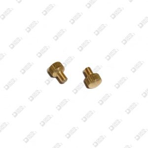 61599 KNURLED SPHERE D. 6 MM 3X4 BRASS