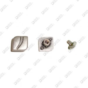10876 SCREW 10X10 PERSONALIZED (BACK WITH STOPS) ZAMAK