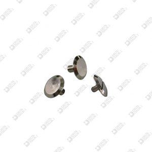 2027/1 TWIN SCREW HEAD D. 12 BRASS (1 SINGLE CUT)