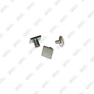 2352 TWIN SCREW SQUARED HEAD 8 BRASS